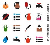 solid vector icon set   water...