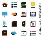 solid vector icon set   book...