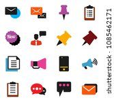 solid vector icon set   paper... | Shutterstock .eps vector #1085462171