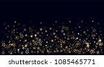 christmas gold stars confetti... | Shutterstock .eps vector #1085465771