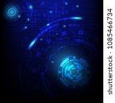vector digital technology... | Shutterstock .eps vector #1085466734