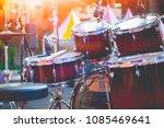 drum set used in concert   Shutterstock . vector #1085469641