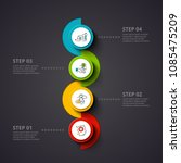 vector circles infographic on a ... | Shutterstock .eps vector #1085475209
