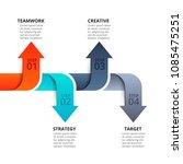 vector arrows for infographic.... | Shutterstock .eps vector #1085475251