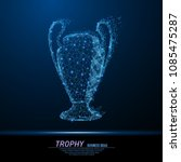abstract polygonal light trophy ... | Shutterstock .eps vector #1085475287