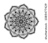 mandalas for coloring book.... | Shutterstock .eps vector #1085477429