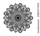 mandalas for coloring book.... | Shutterstock .eps vector #1085477435