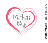 mothers day hand drawn... | Shutterstock .eps vector #1085480879