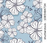 vector seamless pattern with... | Shutterstock .eps vector #1085484734