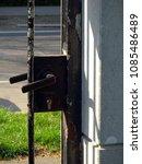 black metal doorknob  outside   Shutterstock . vector #1085486489