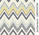 Abstract Zigzag Pattern For...