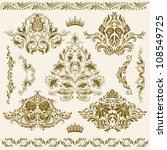 set of vector damask ornaments. ... | Shutterstock .eps vector #108549725