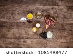 top view of ingredients for the ... | Shutterstock . vector #1085498477