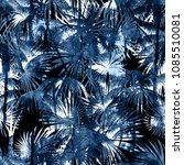 tropical watercolor pattern.... | Shutterstock . vector #1085510081