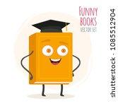 cute cartoon orange book... | Shutterstock .eps vector #1085512904