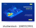 autonomous smart car concept... | Shutterstock .eps vector #1085515901