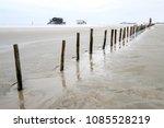 beach of st. peter ording at... | Shutterstock . vector #1085528219