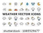 weather forecast meteorology... | Shutterstock .eps vector #1085529677