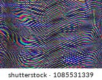glitch psychedelic background.... | Shutterstock . vector #1085531339