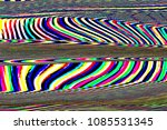 glitch universe background. old ... | Shutterstock . vector #1085531345