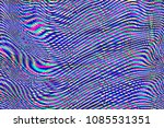 glitch universe background. old ... | Shutterstock . vector #1085531351