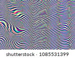 glitch psychedelic background.... | Shutterstock . vector #1085531399