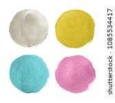 watercolor circles for design | Shutterstock . vector #1085534417