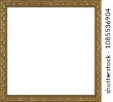 picture frame isolated on white ... | Shutterstock . vector #1085536904