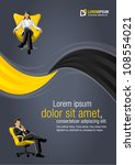 yellow template for advertising ... | Shutterstock .eps vector #108554021