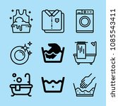 outline clean icon set such as... | Shutterstock .eps vector #1085543411