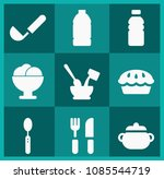 filled food icon set such as...   Shutterstock .eps vector #1085544719