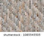 fragment of parquet floor with... | Shutterstock . vector #1085545505