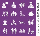 filled people icon set such as... | Shutterstock .eps vector #1085545961