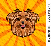 yorkshire terrier dog head.... | Shutterstock .eps vector #1085548844
