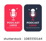 podcast radio icon illustration ... | Shutterstock .eps vector #1085550164