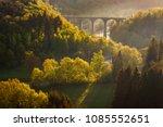 ardennes  belgium. sunrise in... | Shutterstock . vector #1085552651