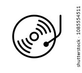 retro vinil  record player  cd...   Shutterstock .eps vector #1085554511