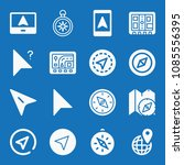 filled set of 16 gps icons such ... | Shutterstock .eps vector #1085556395