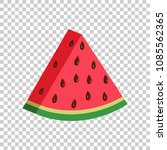 watermelon sign vector icon.... | Shutterstock .eps vector #1085562365