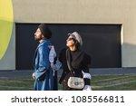 beautiful indian couple posing...   Shutterstock . vector #1085566811