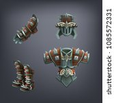 set of fantasy armor for game.... | Shutterstock .eps vector #1085572331