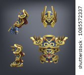 set of fantasy armor for game.... | Shutterstock .eps vector #1085572337