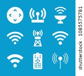 wireless related set of 9 icons ... | Shutterstock .eps vector #1085575781