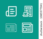 journal related set of 4 icons... | Shutterstock .eps vector #1085577041