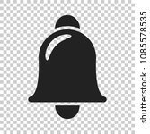 bell vector icon in flat style. ...