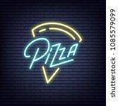 pizza. pizza neon sign. neon...   Shutterstock .eps vector #1085579099