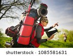 an outdated way of traveling is ...   Shutterstock . vector #1085581631