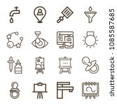 tool related set of 16 icons... | Shutterstock .eps vector #1085587685