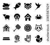animals related set of 16 icons ... | Shutterstock .eps vector #1085587829