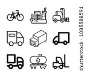 transport related set of 9... | Shutterstock .eps vector #1085588591